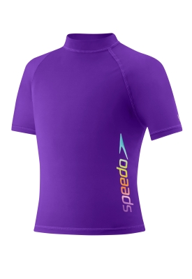 SPEEDO Girls Rashguard (7-16) (New Purple Haze (503))
