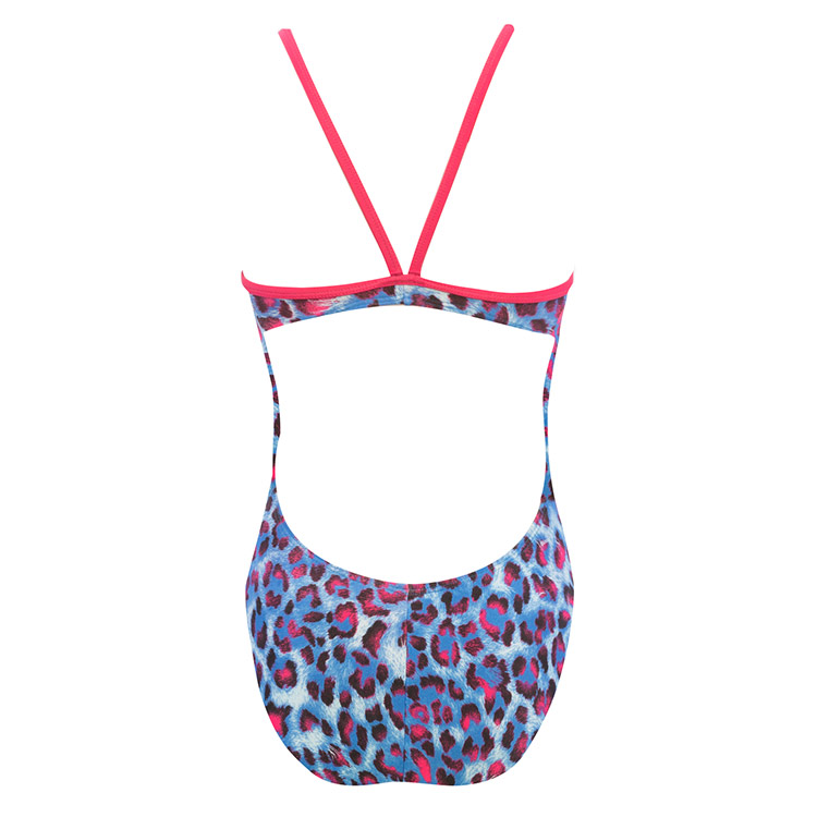 The Finals Women's Clawz Funnies Wing Back Swimsuit (Blue/Pink (36))