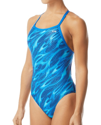 TYR Women's Reaper Diamondfit Swimsuit (Blue (420))